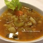 Minestrone di lenticchie