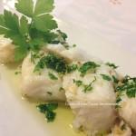 Baccalà con olio, aglio e prezzemolo