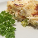 Lasagne con surimi e zucchine