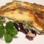 Lasagne verdi con radicchio e gorgonzola