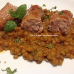Salsiccia in umido con lenticchie
