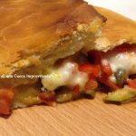 Rotolo di pizza alle verdure