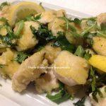 Bocconcini di pollo al limone e rucola